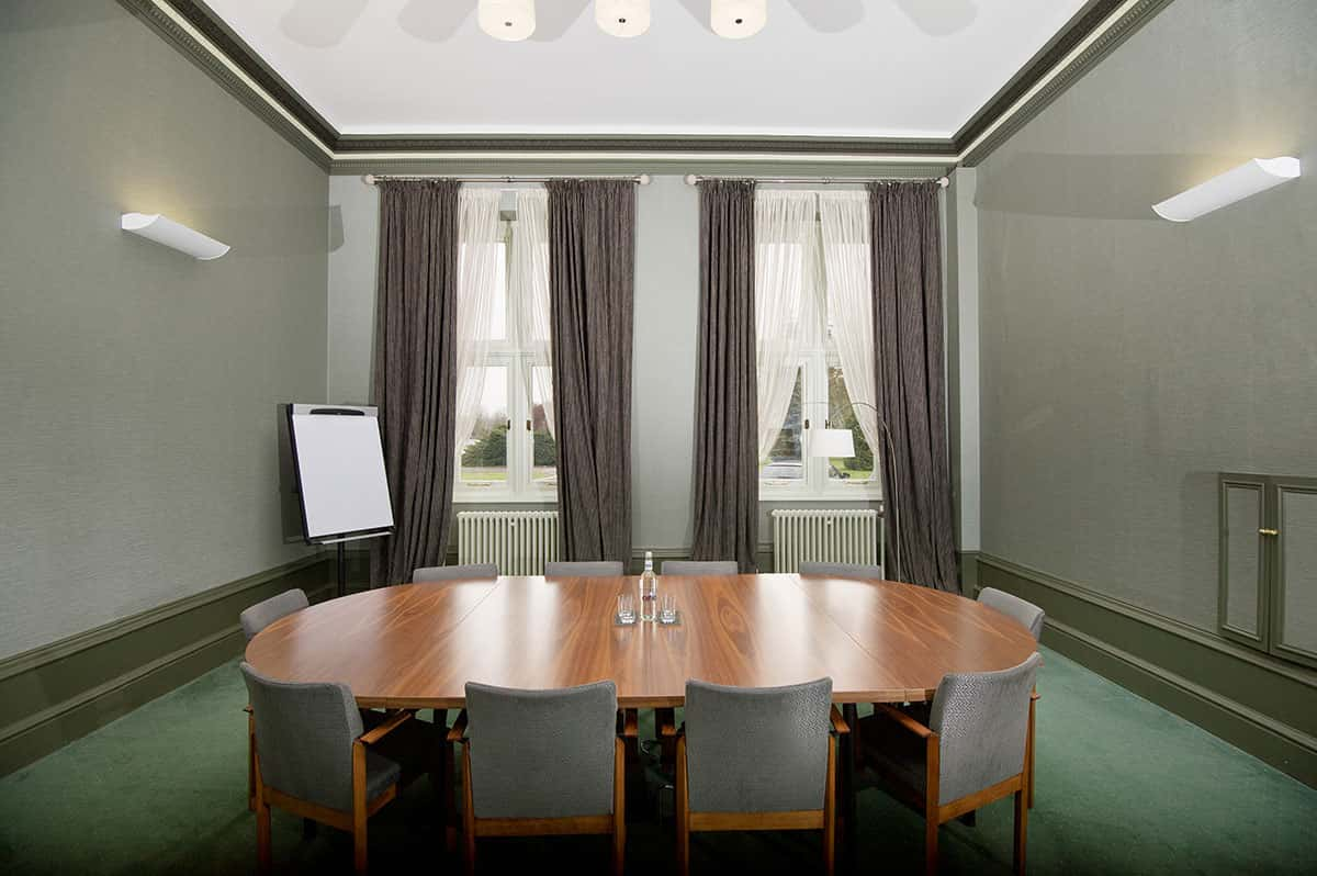 The Wynn Room for conferences and meetings located by the River Thames at Howbery Park Conference & Meetings Centre at Wallingford, near Oxford, Oxfordshire