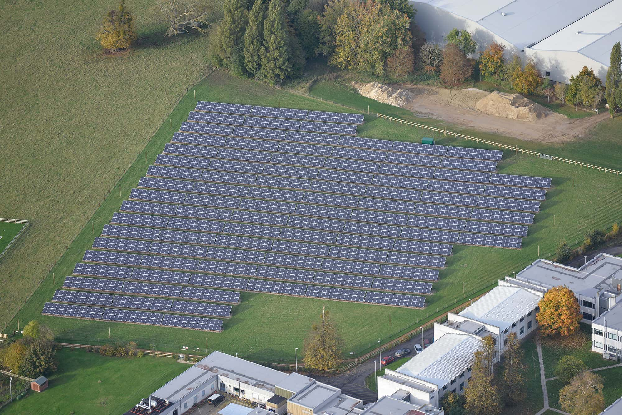 Solar Park Aerial