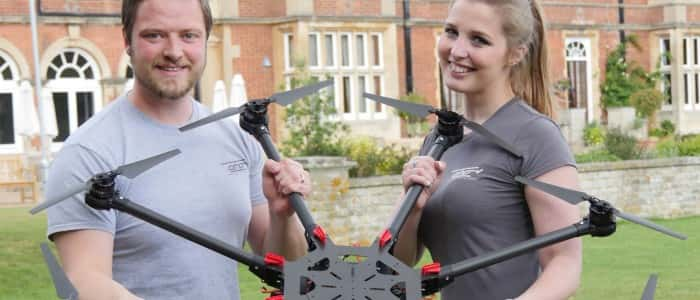 Matt Williams and his wife Natalie, Aerial Motion Pictures Ltd