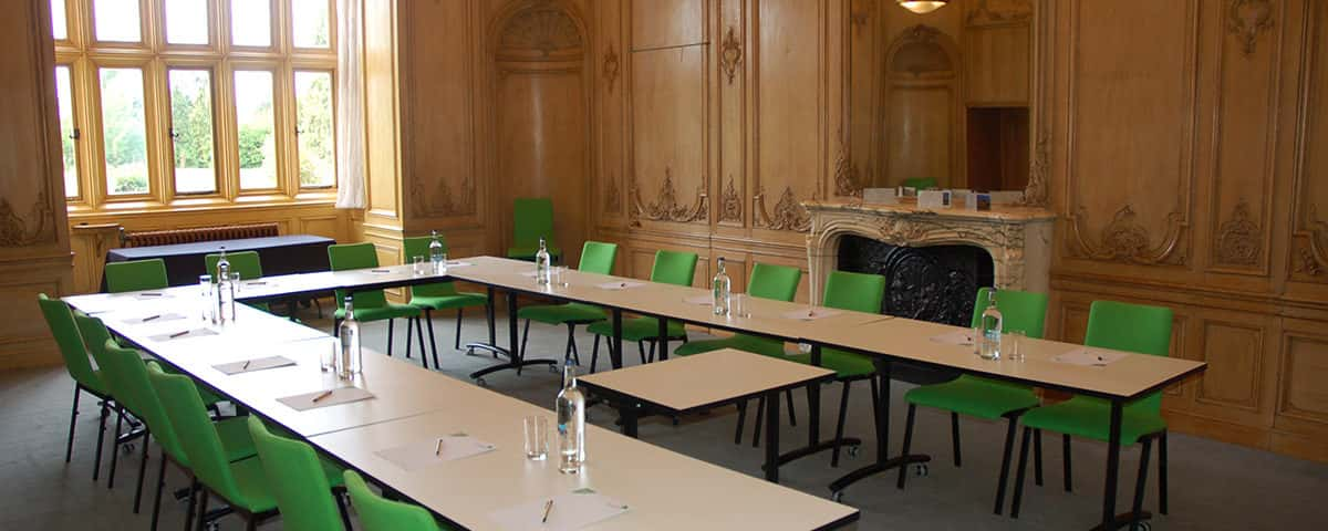 The Blackstone Room for conferences and meetings located by the River Thames at Howbery Park Conference & Meetings Centre at Wallingford, near Oxford, Oxfordshire