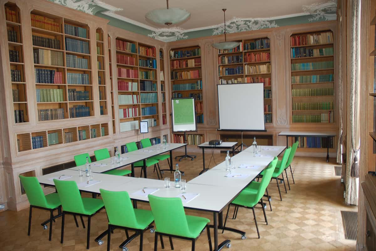 The de Morney Room for conferences and meetings located by the River Thames at Howbery Park Conference & Meetings Centre at Wallingford, near Oxford, Oxfordshire