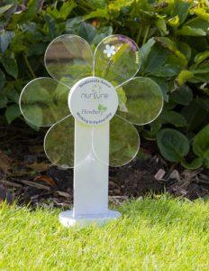 The Nurture Biodiversity flower-shaped award