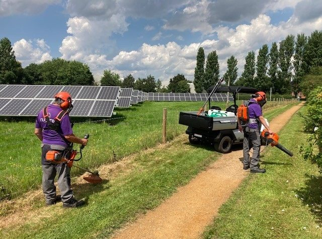 Our team uses new electrical equipment to look after the Howbery Park grounds